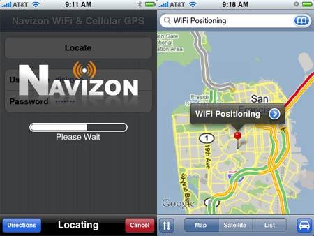 gps iphone gratuito Navizon