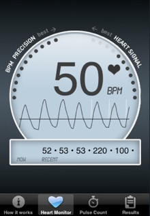 heart monitor iphone