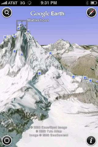 Google Earth montagne