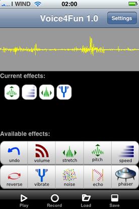 Voice4fun per iPhone manipolare suoni