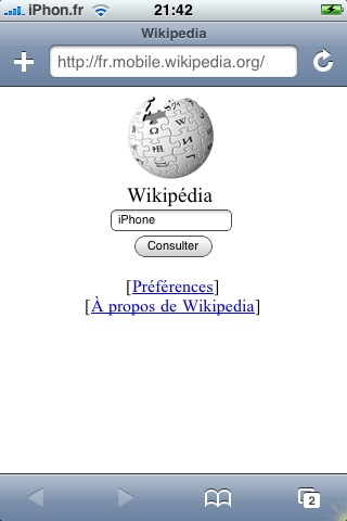 wikipedia iphone